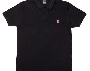 Men's Organic Cotton Black Polo Shirt