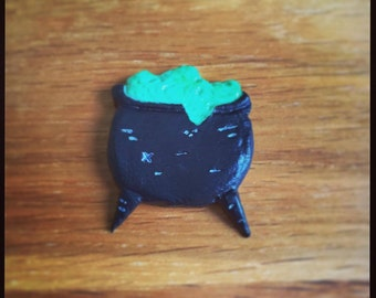 Halloween Witches Cauldron Glow in the Dark pin!