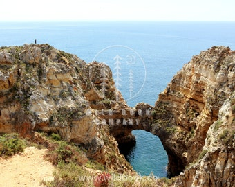 Cliffs and Sea, Photography - Wallpaper,Wall Art - Print Photo,Fine Art Print,Postcard,Poster,Image,DIN A4 - hipster nature travel landscape