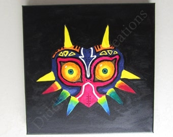 Majora's Mask (The Legend of Zelda inspired) Hand-Painted Acrylic Painting