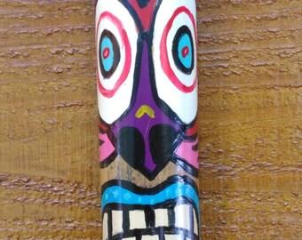 Hand Painted Bamboo VooDoo Tiki