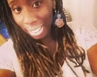 Afro Lady Earrings