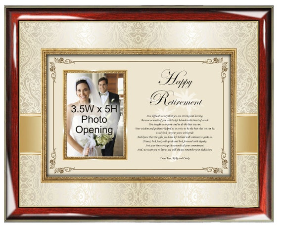 Picture Retirement Photo Frame Personalized Retirement Gifts