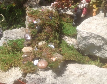 Gnome/fairy garden cobblestone path