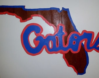 University of Florida Gators Wooden Pallet Hand Painted/Stained Logo
