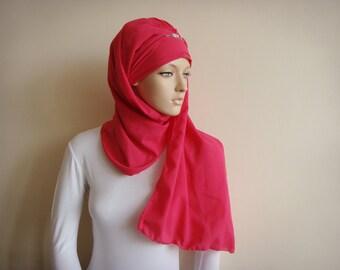 Stylish Turban Hijab, ready to wear hijab, chapel scarf, Scarf Handmade, Pret A Porter Hijab, Headtie Turban Cap, Muslim fashion, Turban