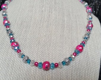 Sparkly Pink Necklace