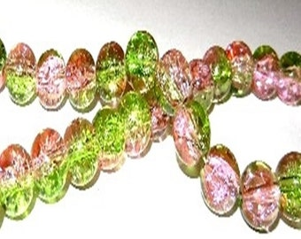 30 Cracle - 8 mm - Green Pink / L1-0704