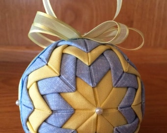 Pastel Quilted Ornament