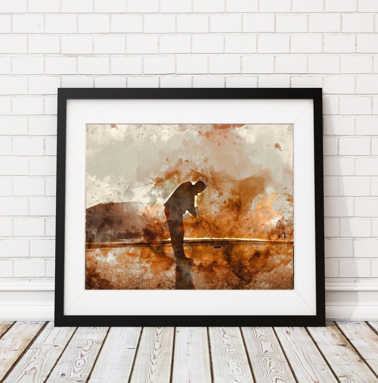 Office Pictures For Walls Golf: Golf Print, Golf Watercolor Painting, Golf Art, Golf