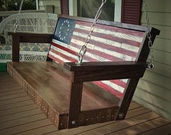 Patriotic Porch Swing