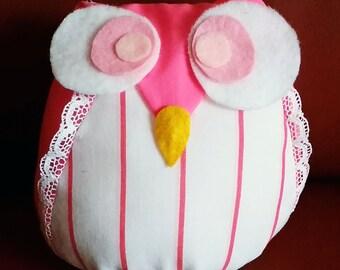 """6"""" Plush Owl - Pretty Pink"""