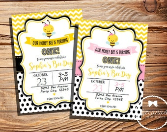 Bumble Bee invitations, Bee Theme, Bumblebee Party, Printable Birthday Invitation, Party Supplies, Bumblebee  Decoration, Digital File.