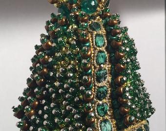 Handmade Beaded Christmas Decoration