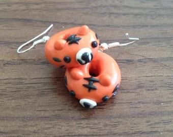Tiger Donut Earrings