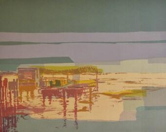 Limited Edition Print | Silkscreen Print | Nautical Art | Fine Art Print |  Original Print | Abstract Print | Modern Artwork  Nautical Print