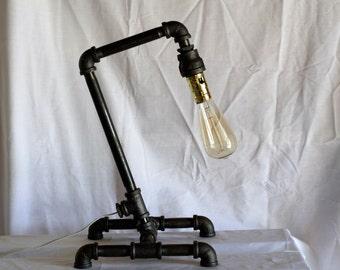 Industrial Galvanized Desk Lamp w/ Edison Bulb