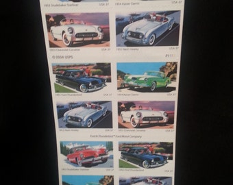RARE COLLECTIBLE Vintage Car Postage Stamps