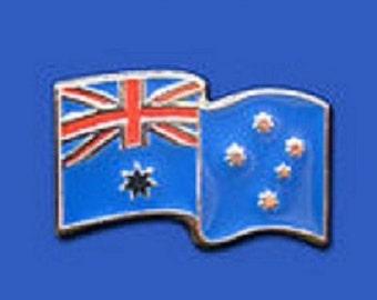Australian Flag 3 D Pewter Lapel badge High Quality