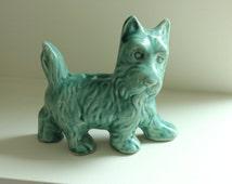 Green Vintage Scotty Dog Figurine