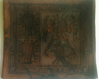 Carved Leather Piece