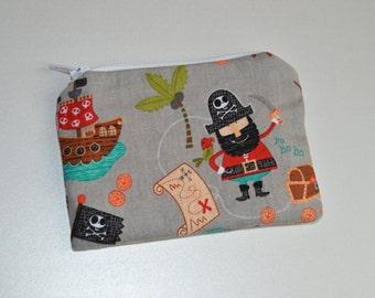 Pirate zipper pouch, Coin purse, wallet