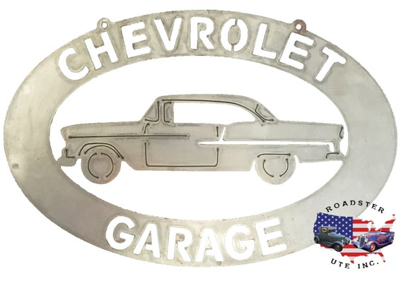 Chevrolet Garage - Plasma Cut Metal Shop Sign