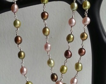 Freshwater pearl mix necklace