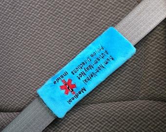 Seat Belt 911 - Emergency Information Seat Belt Wrap/Cover