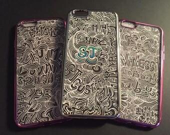 SJ Custom Art-Custom Designed Phone Cases (Signature Black and White Series-1)