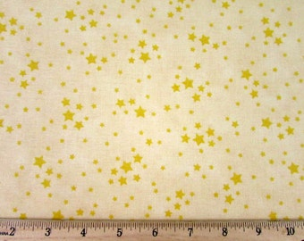 Snuggle Time Stars Light Yellow Fabric From Quilting Treasures