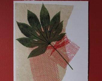 Growth and Form Leaf Screenprint