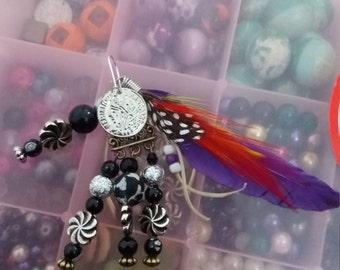 feather bag charm