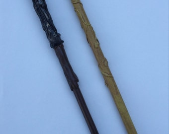 Harry Potter Inspired Wands!  Harry and Hermione replicas.  Hand made.  Made-to-order.