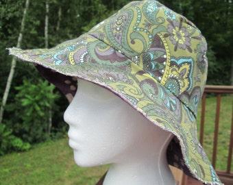 Floppy Brim Reversible Sun Hat