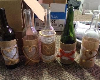 Decorative wine bottles