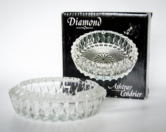 Diamond - Ashtray Cendrier - VINTAGE 1983 Made in Italy for The European Collection