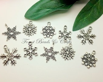 """Shop """"snowflake charms"""" in Craft Supplies & Tools"""