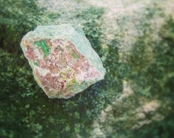 Cobalto Calcite with Malachite