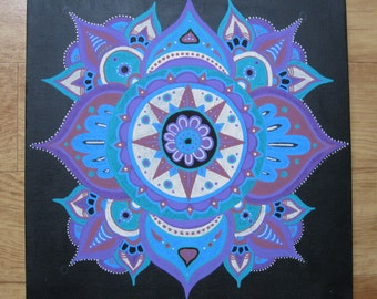 Mandala on a black background