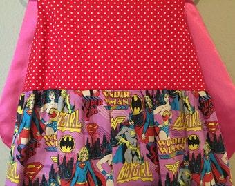Superhero Females girls dress with Cape