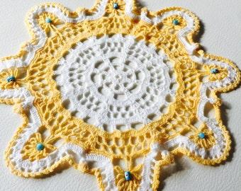 Crocheted Beaded Doilies
