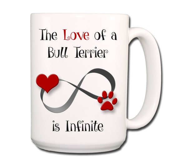 Bull Terrier Infinite Love Large 15 oz Coffee Cup