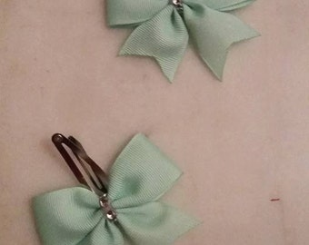 Mint Green Snap Clips