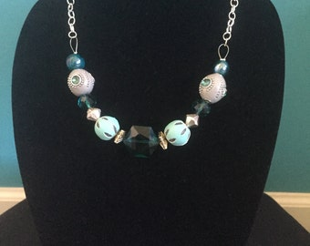 Teal & Grey Necklace