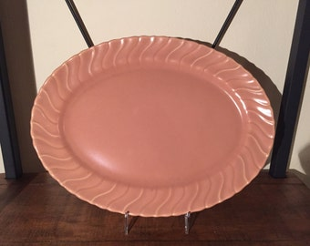Pink 1940's Gladding McBean California Pottery - Oval Platter
