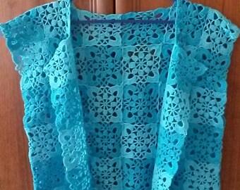 Knitted crochet vest
