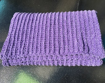 Crochet Purple Baby Blanket