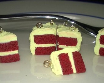 Miniature Red Velvet Cake Earrings / Necklaces / Charms