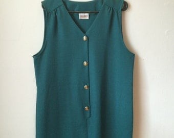 Vest shift dress, 70s, button closure *vintage*